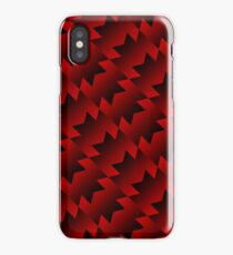 Retro United Pattern [Red & Black] iPhone Case