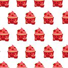Strawberry Cupcake Family (Pattern) by Adam Santana