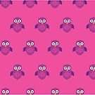 Purple & Purple Owl (Pattern 2) by Adam Santana