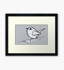 Enhanced bird Framed Print