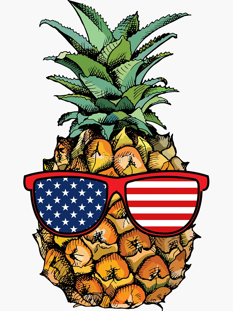 Patriotic Pineapple - 4th of July by heyrk
