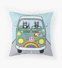 The Hippie Bus Throw Pillow