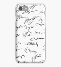 colorful illustration with Set of autographs on a white paper background iPhone Case/Skin