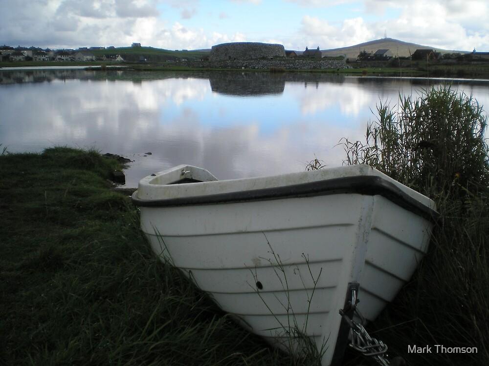 boat on the loch side - Shetland by Mark Thomson