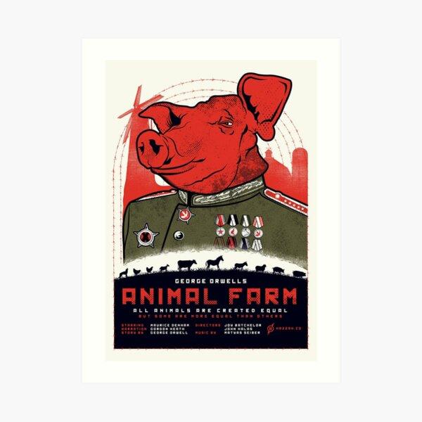 Animal Farm Movie Poster Art Print