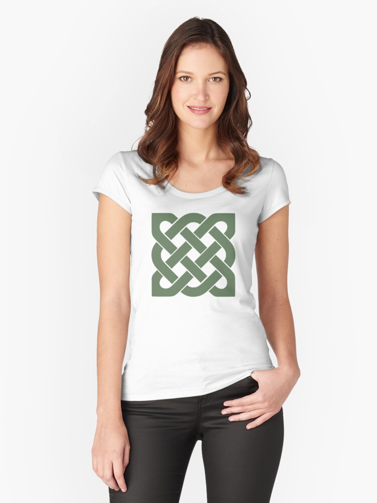Celtic Knot Women's Fitted Scoop T-Shirt Front