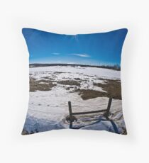 Fence along the sky Throw Pillow