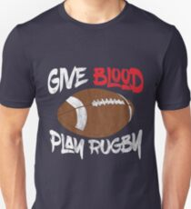Give Blood Play Rugby Design  T-Shirt