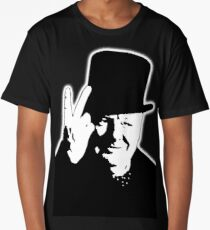 V sign, Victory, V, 1943, WWII, Winston, Churchill, British prime minister,  Long T-Shirt