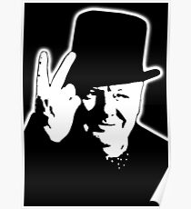 V sign, Victory, V, 1943, WWII, Winston, Churchill, British prime minister,  Poster