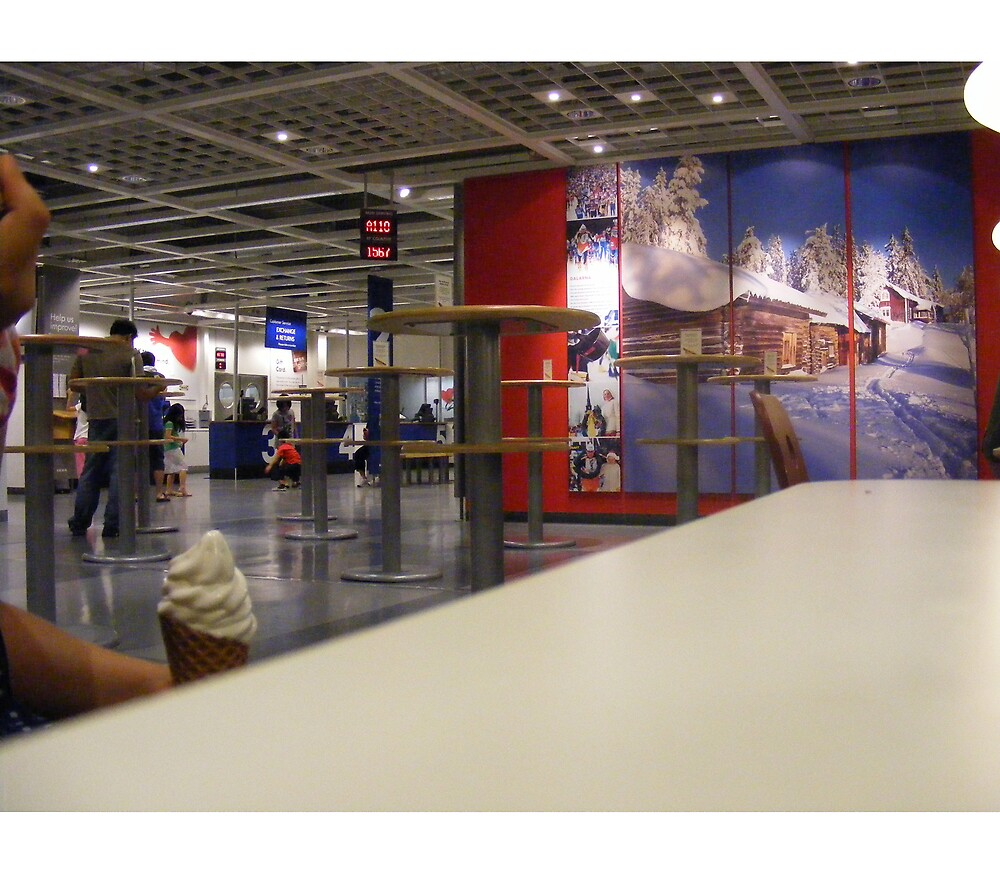 eva holds ice cream at ikea by edeology