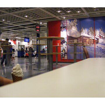 eva holds ice cream at ikea by edeology