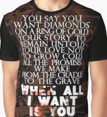 Camiseta gráfica u2 todo lo que quiero es tu versión 2