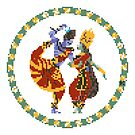 Shiva Parvati Pixel Art by artkarthik