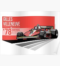 Gilles Villeneuve - 1978 Montreal Poster