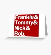 Jersey Boys Characters | Red Greeting Card