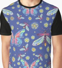 Butterflies & Fireflies Graphic T-Shirt