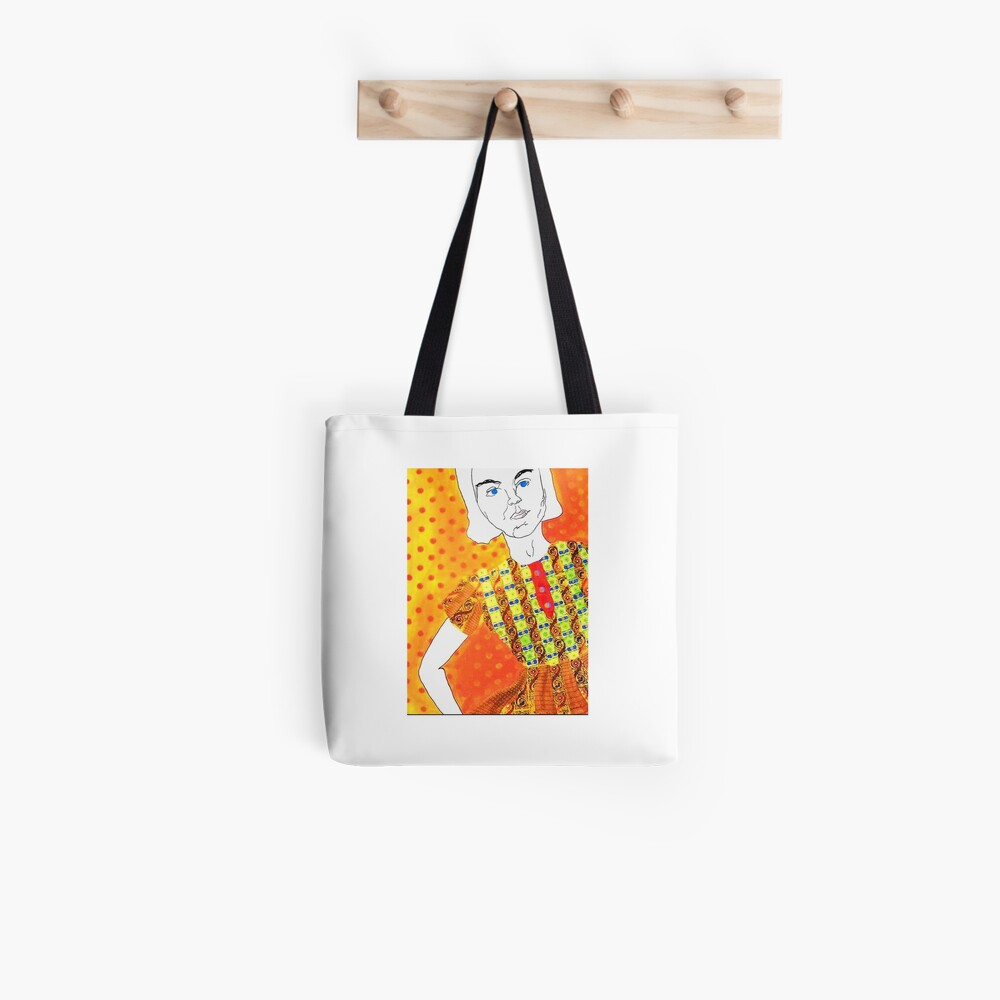 Angry Girl Collection Contrast Tank Tote Bag