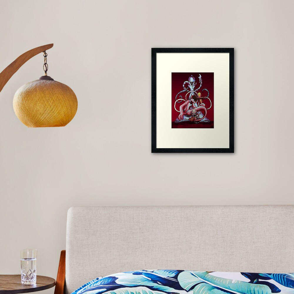Ghosted/Battleface AU collaboration picture Framed Art Print