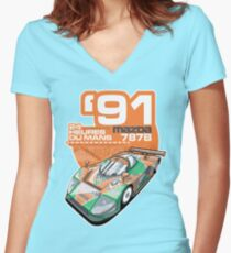 MAZDA - 787B GROUP C2 Women's Fitted V-Neck T-Shirt