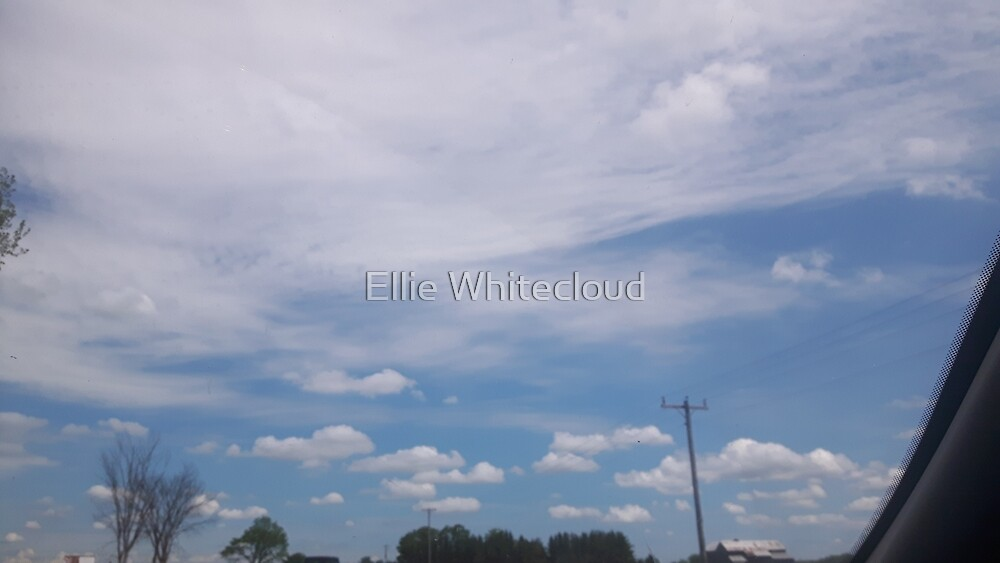 Sky blue white cloudy sky by StreetFighter56