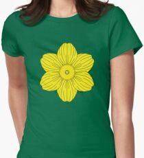 Heraldic Daffodil Women's Fitted T-Shirt