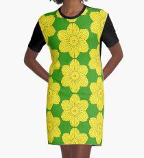 Heraldic Daffodil Graphic T-Shirt Dress