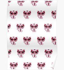 Kitten Nerd (Pattern) Poster