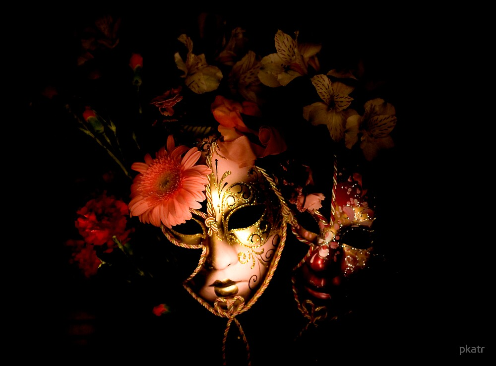 Masks and Flowers by pkatr