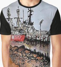 Astoria, Oregon (Watercolor, ink) Graphic T-Shirt