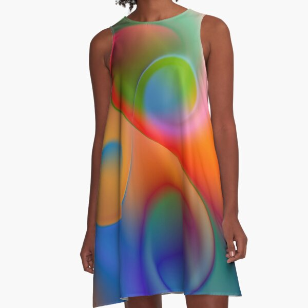 the sound of colors -9- A-Linien Kleid