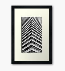 Modern Office Building Architectural Glass Detail Framed Print