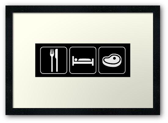 Food Sleep Steak by Pixelchicken