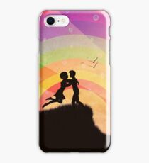 Romantic couple at sunset iPhone Case/Skin