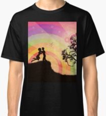 Romantic couple at sunset Classic T-Shirt