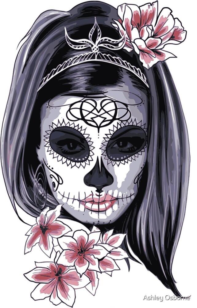 sugar skull by Ashley Osborne
