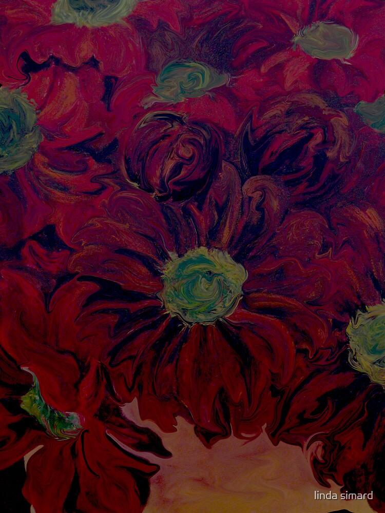 red flowers by linda simard