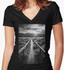 October Women's Fitted V-Neck T-Shirt