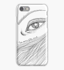 Eyes are the mirror of the soul iPhone Case/Skin