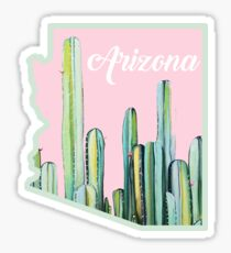 Arizona Cactus State Sticker