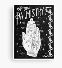 Palmistry // Hand Map Canvas Print