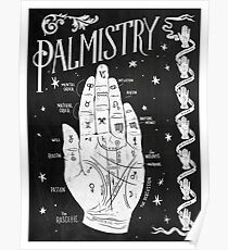 Palmistry // Hand Map Poster