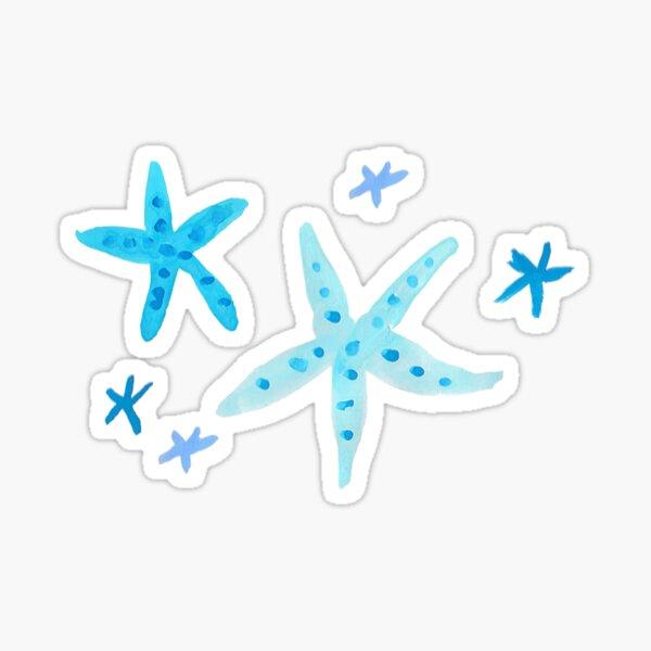 Blue Starfish Sticker