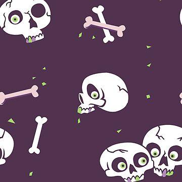 Skullery in purple by lizzelizzel