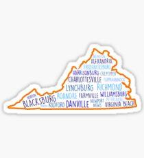 Virginia Cities State Sticker