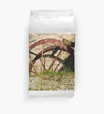 The Mill Wheel at Corcgreggan's Mill, Donegal, Ireland Duvet Cover