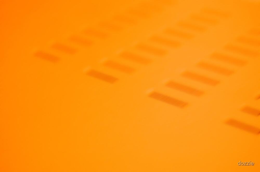 Orange Abstract by dozzie