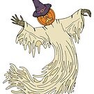 Pumpkin Headed Ghost by Richard Fay