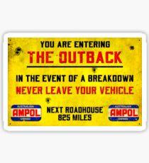 THE OUTBACK: Vintage Warning Sign Print Sticker