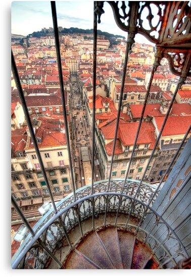 Lisbon. Elevador de Sta. Justa. Lift by terezadelpilar ~ art & architecture